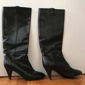 Loeffler Randall Black heeled boots